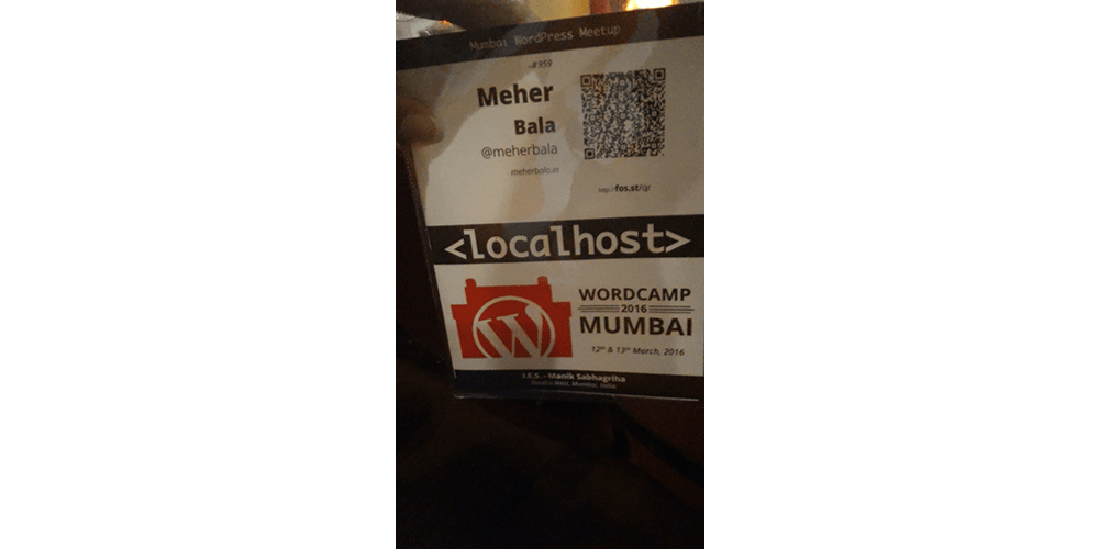 ID At WordCamp Mumbai 2016
