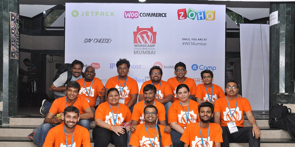 Organisers and Volunteers Group Photo At WordCamp Mumbai 2016