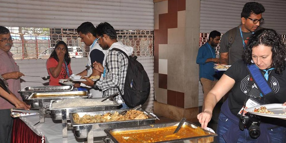 Lunch Time At WordCamp Mumbai 2016