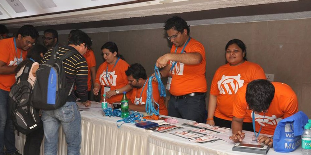 Registration Desk At WordCamp Mumbai 2016